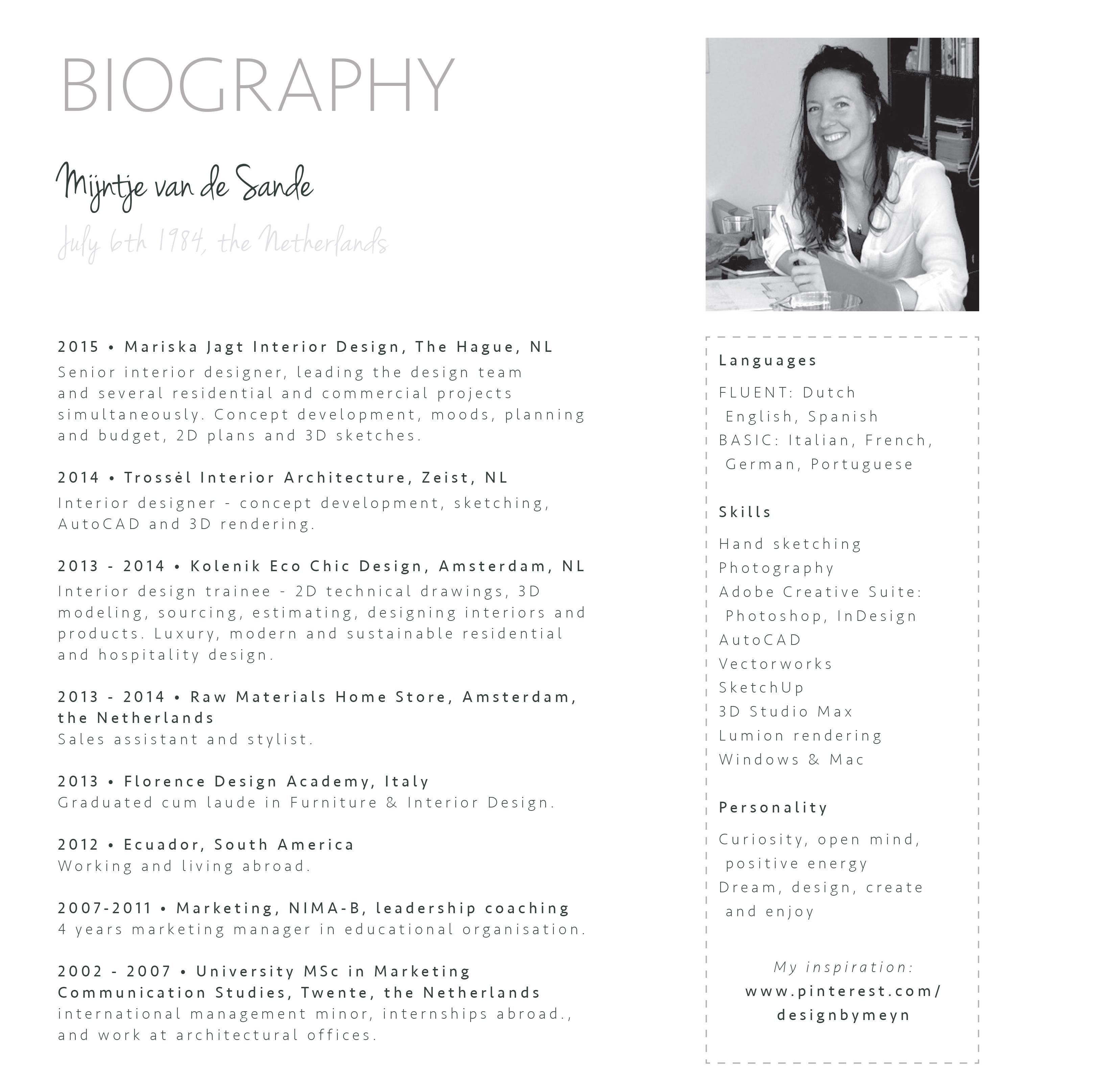 Mijntje Van De Sande Biography Design By Meyn