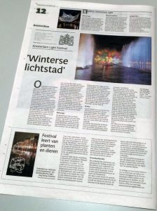 media newspaper press Amsterdam Light Festival