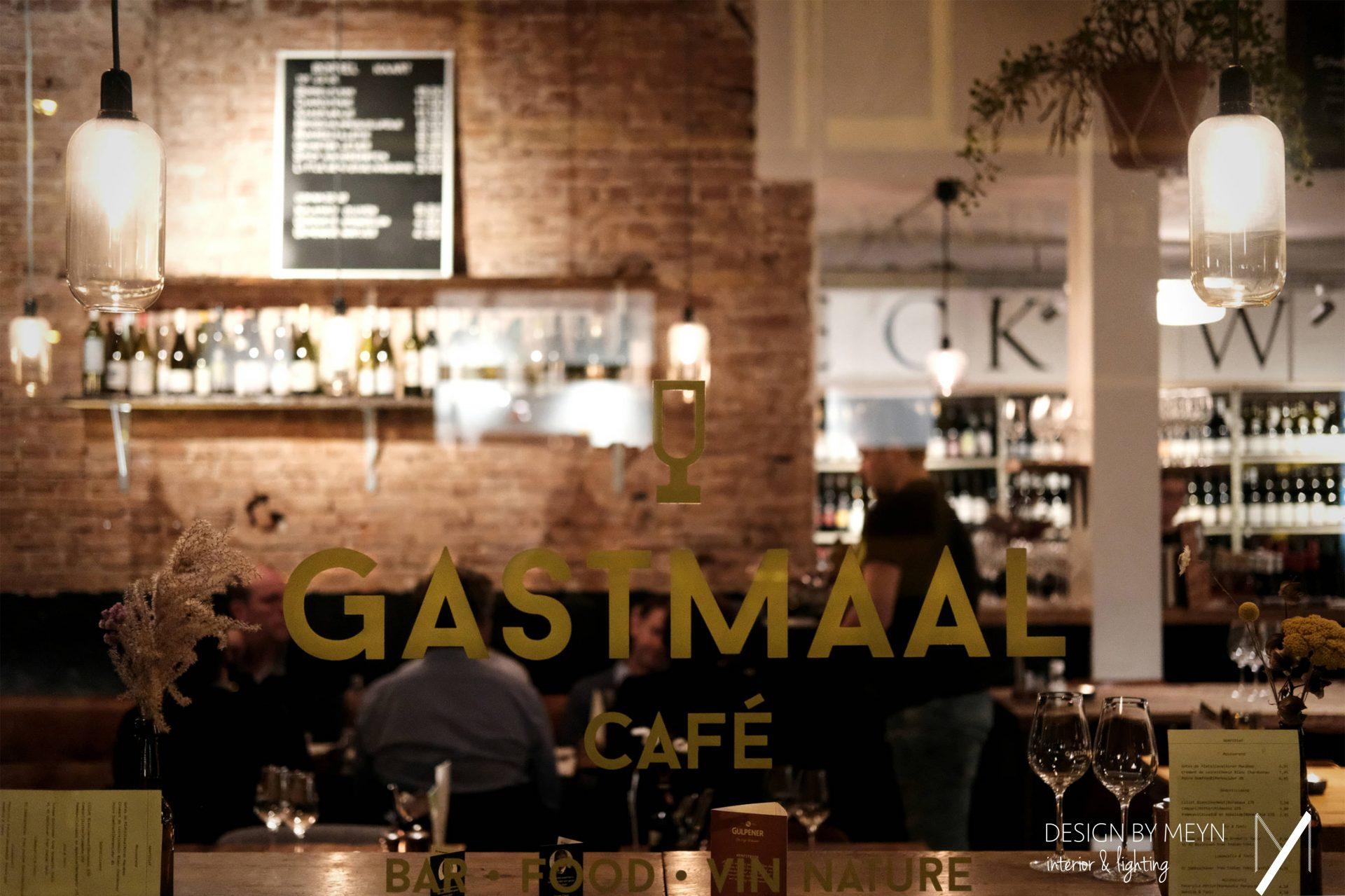 wijnwinkel Vleck wijnen eetcafe Gastmaal Utrecht lichtontwerp verlichting restaurant retail Design by Meyn