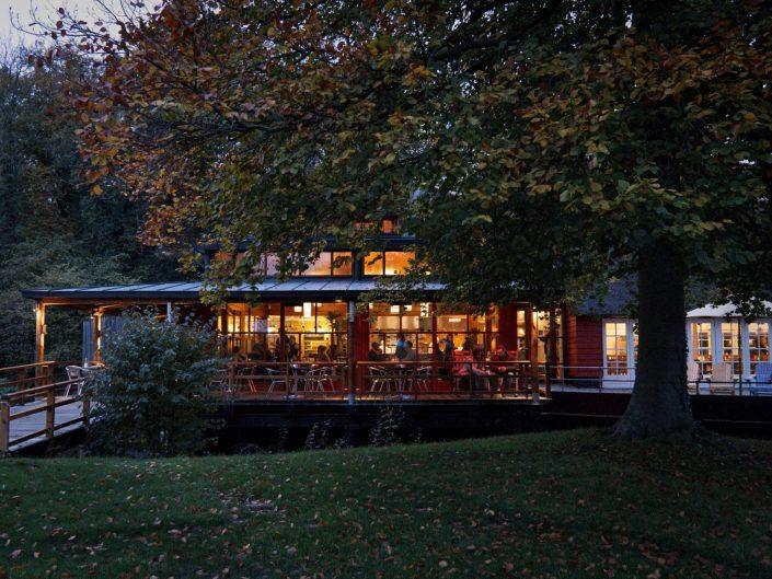 Restaurant in a natural landscape