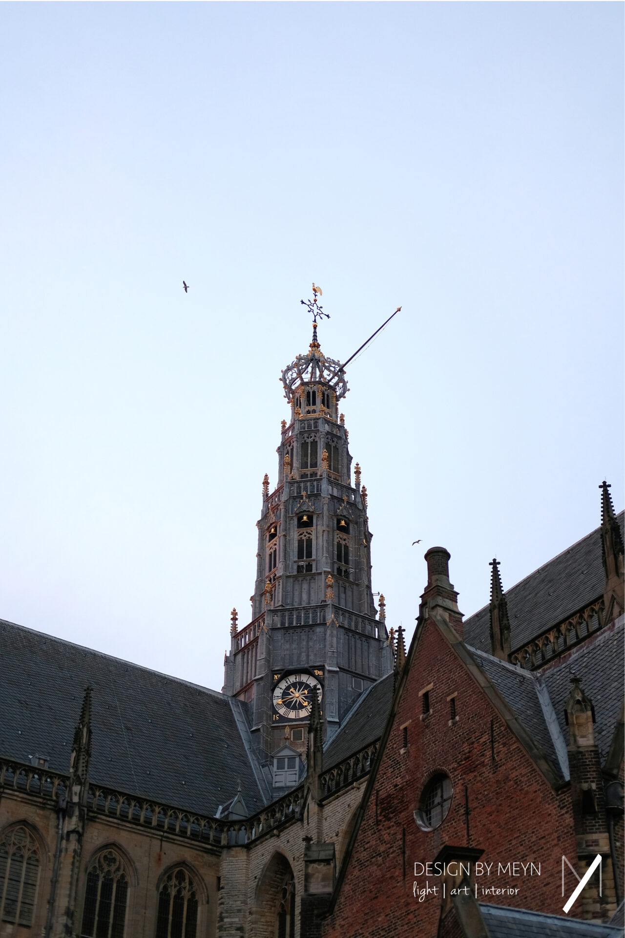 verlichting toren Grote Kerk St.-Bavo Haarlem | Mijntje van de Sande