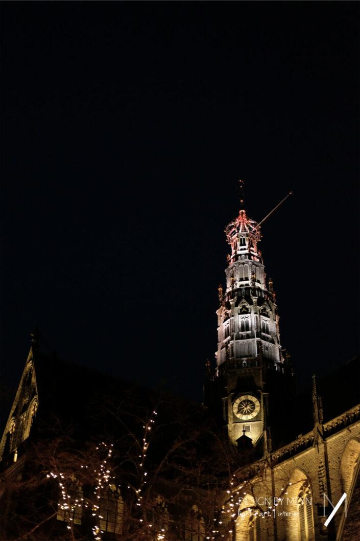 lichtkunstwerk light art Grote Kerk St.-Bavo Haarlem | Mijntje van de Sande