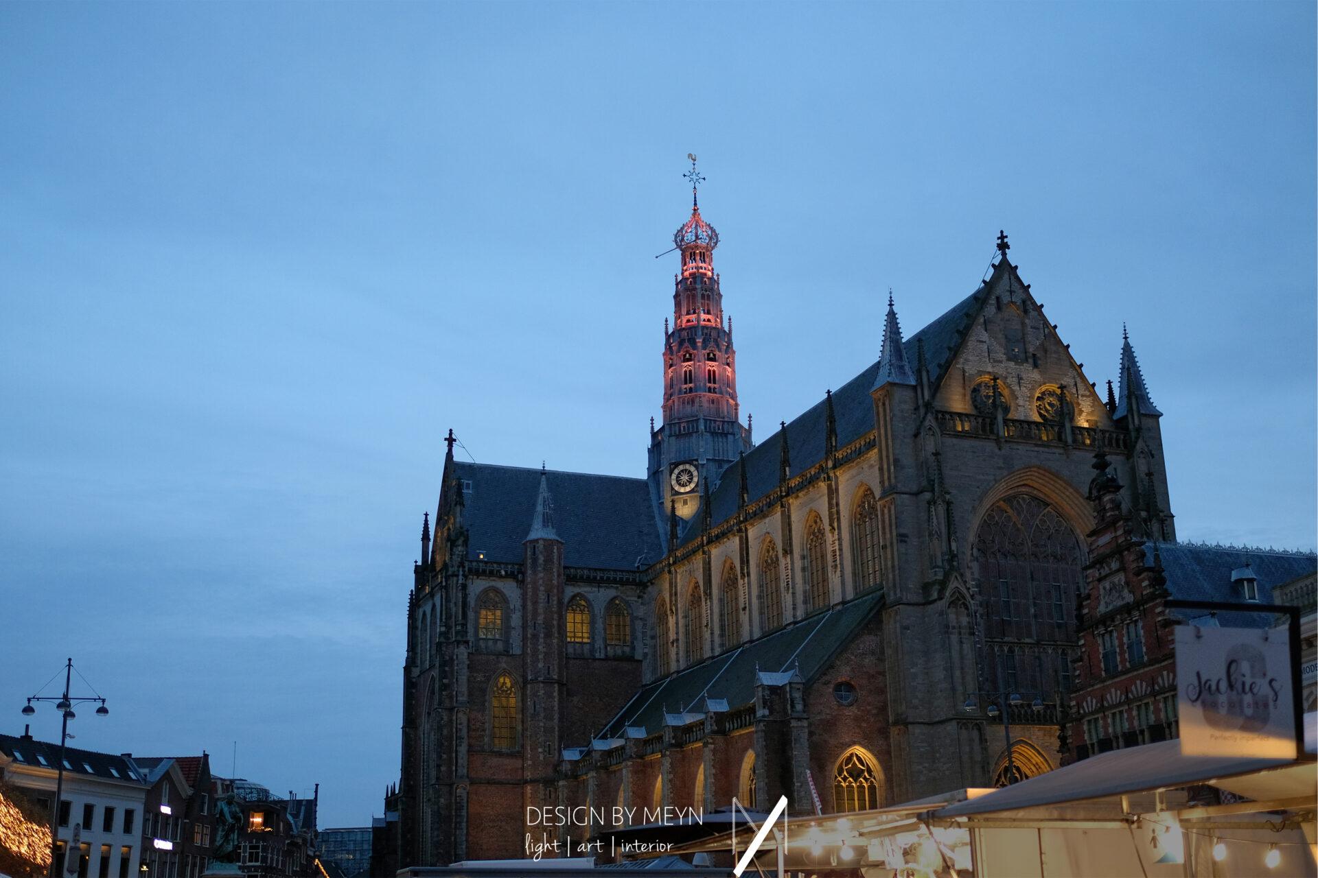 lichtkunst light art Grote Kerk St.-Bavo Haarlem | Mijntje van de Sande