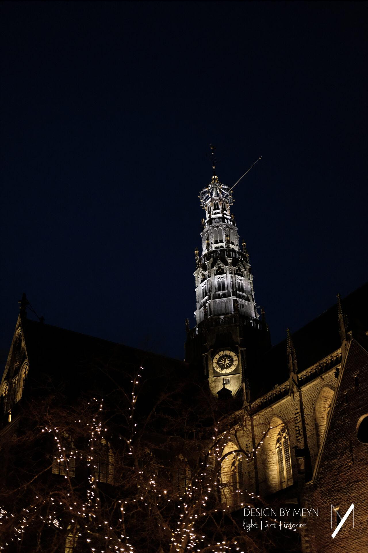 lichtontwerp toren Grote of St.-Bavo Kerk Haarlem